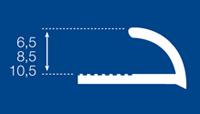Perfil de PVC detalle